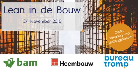 Lean in de Bouw evenement op 24 November 2016